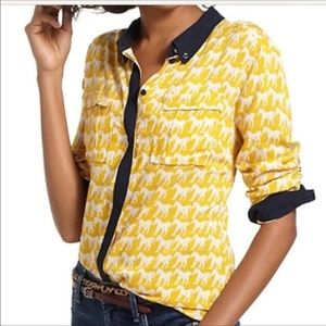Maeve Anthropologie Horse Printed Button Down